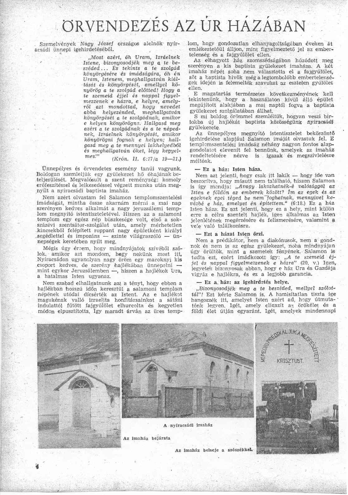 Beszámoló, 1. oldal