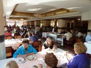A konferenciának helyet adó hotel ebédlője (Fotó: Pafkó Tamás)
