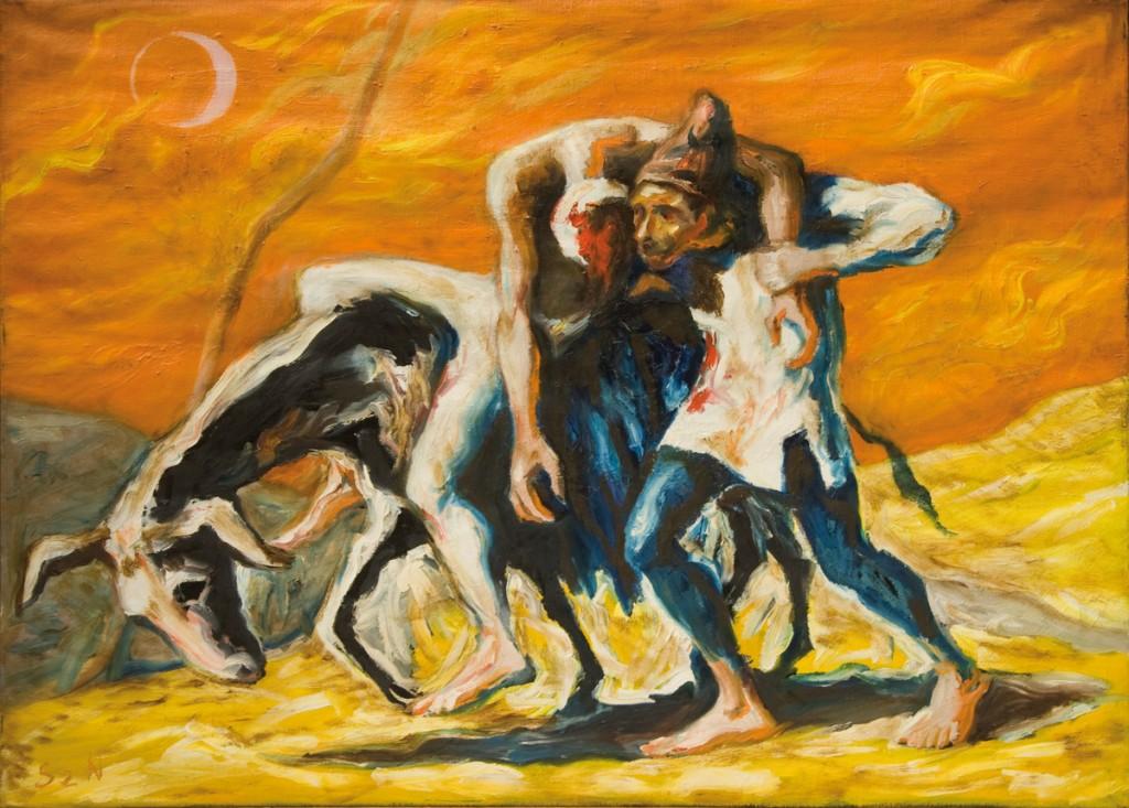 Szúdy Nándor: A kék szamár (Az irgalmas samaritánus), 1951