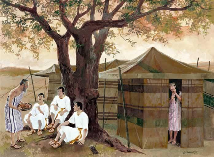 Angyali vendégek Ábrahámnál