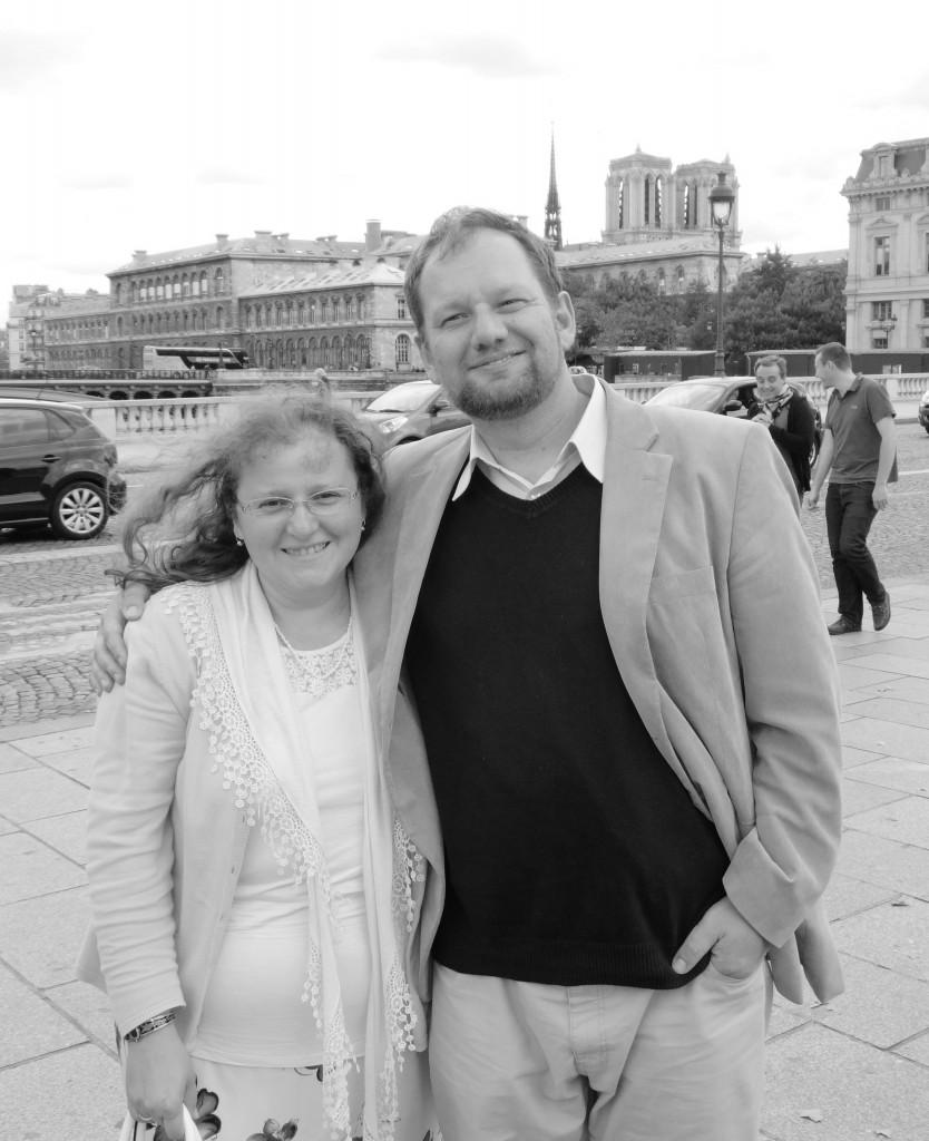 Nemeshegyi-Horvát György, és felesége, Nemeshegyi-Horvát Anna Párizsban