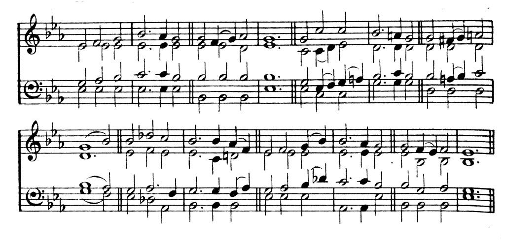 J. B. Dykes dallama (elnevezése: HORBURY). Más dallamaira énekeljük a'48-as református énekeskönyvben akövetkezőket: Lelkem drága Jézusa (300), Szent vagy, szent vagy, szent vagy (488) és Ó, lelkem szent napsugara (510)