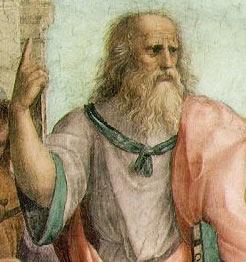 Platón (Raffaello festményének részlete, 1509)