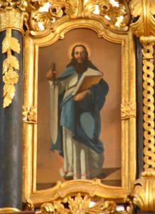 Pál apostol. A hajdúdorogi görögkatolikus székesegyház ikonosztázának részlete